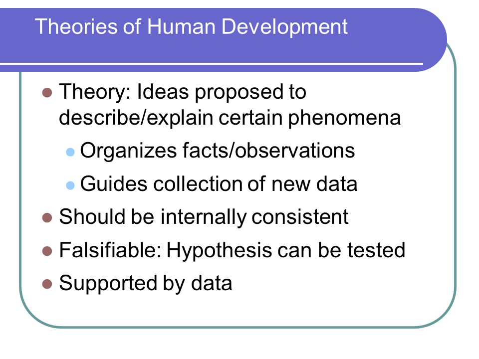 Describe which theory best explains the influence of culture on human development and why.