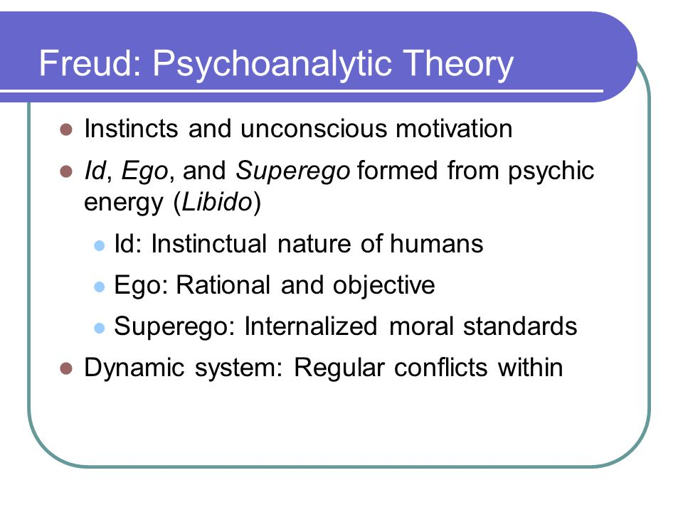 Freud: Psychoanalytic Theory