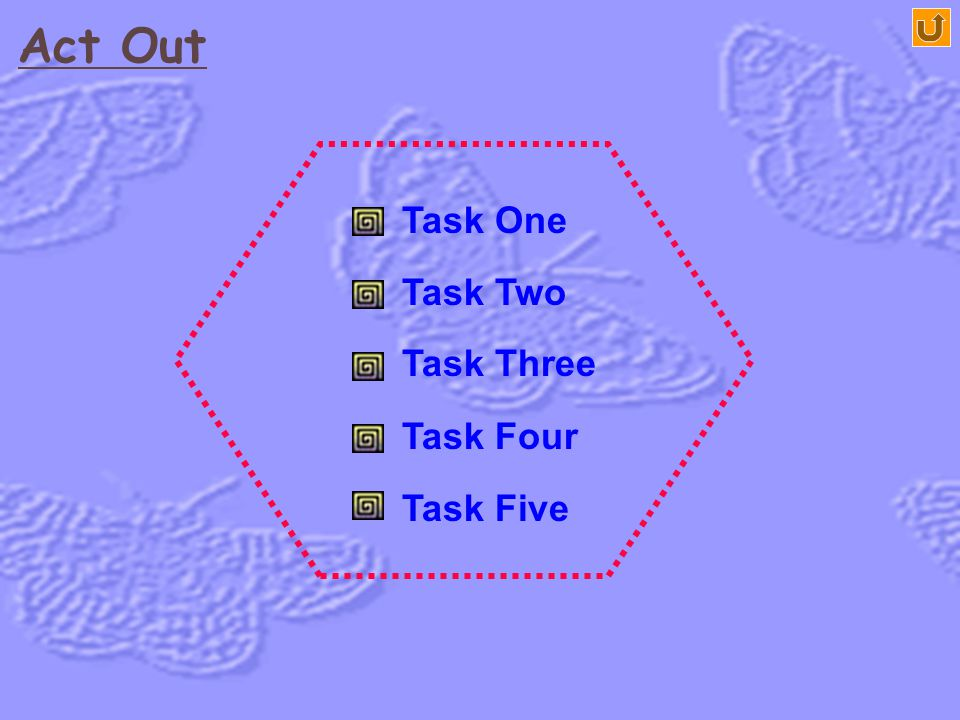 Act Out Task One Task Two Task Three Task Four Task Five