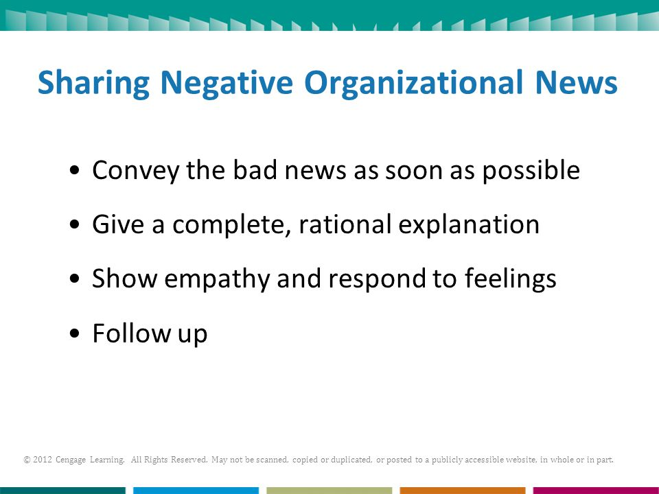Sharing Negative Organizational News
