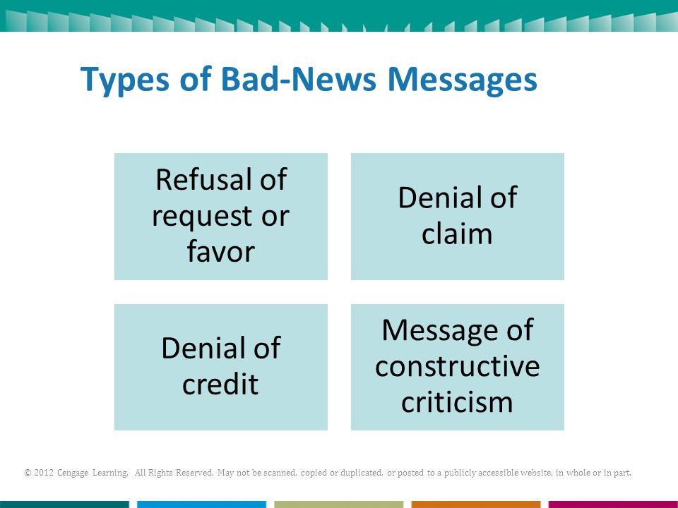 Types of Bad-News Messages