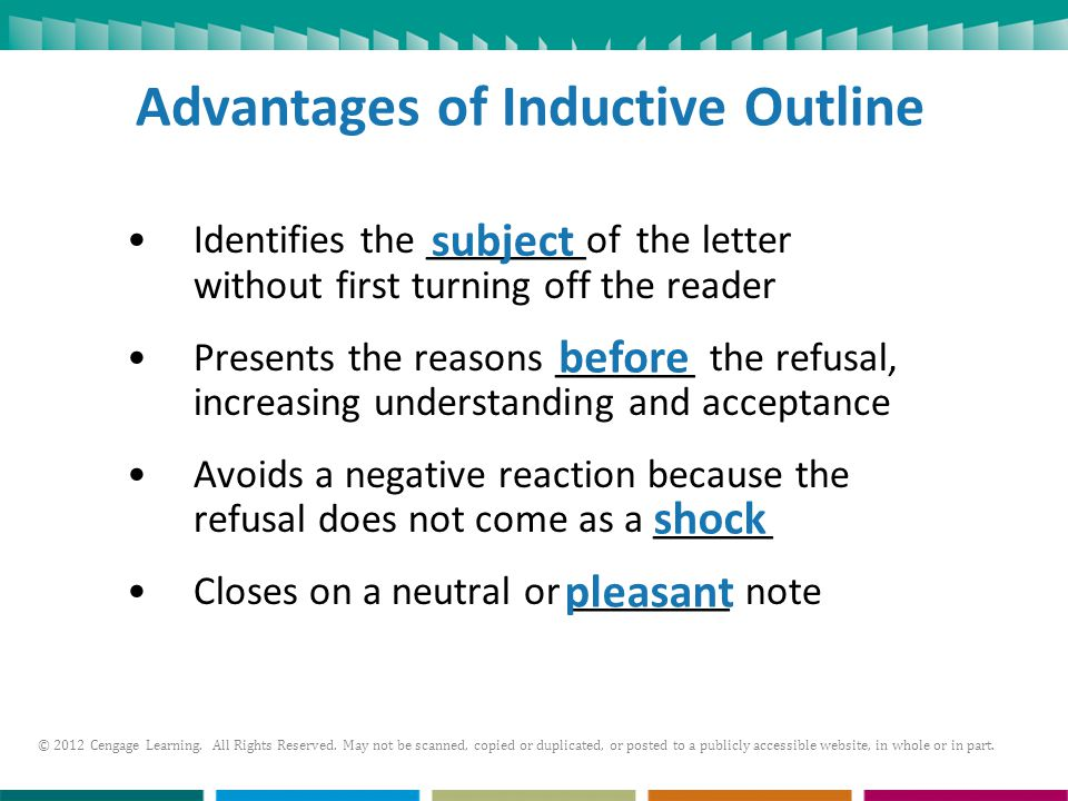 Advantages of Inductive Outline