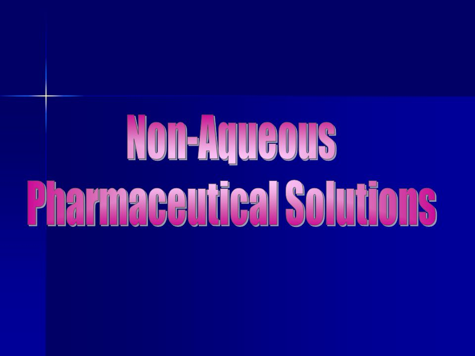 Pharmaceutical Solutions