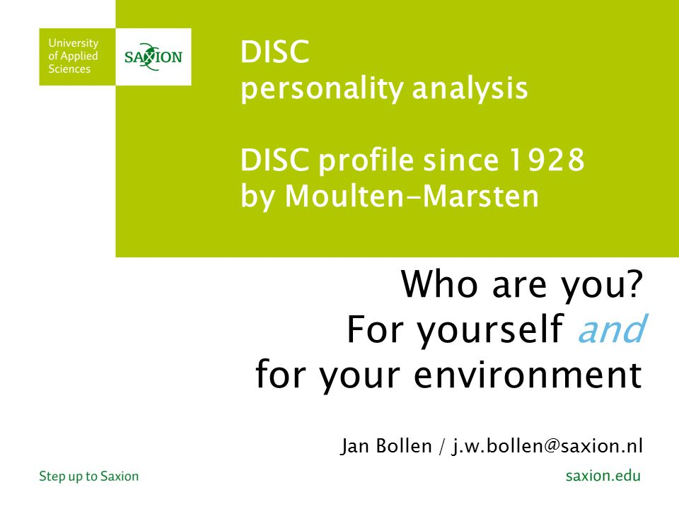 DISC personality analysis DISC profile since 1928 by Moulten-Marsten