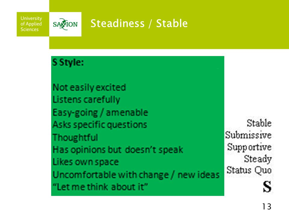 Steadiness / Stable