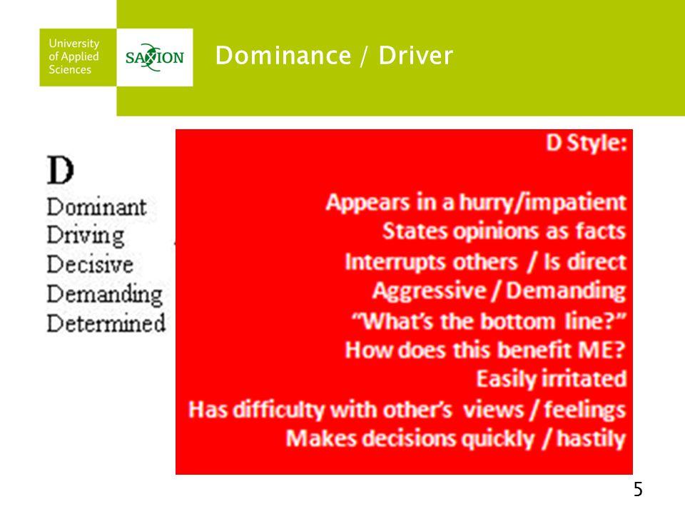Dominance / Driver