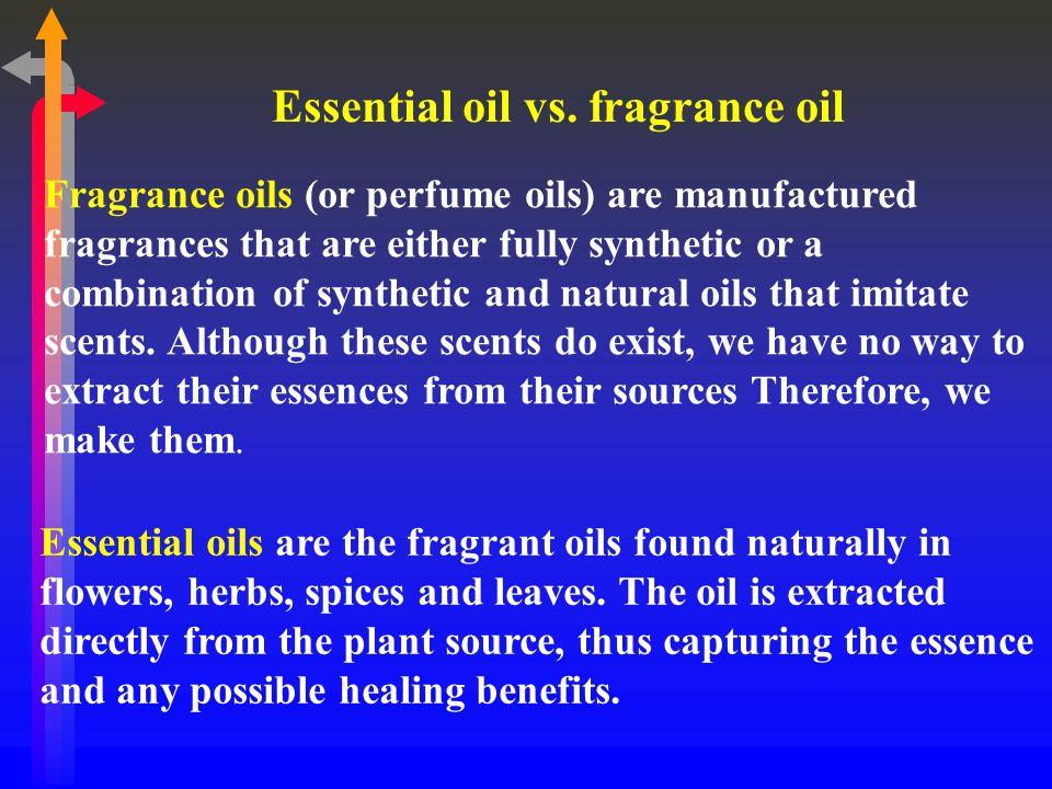 Essential oil vs. fragrance oil