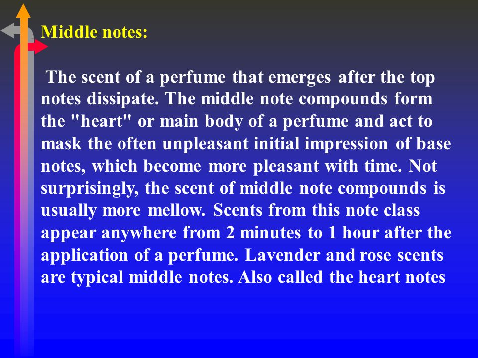 Middle notes: