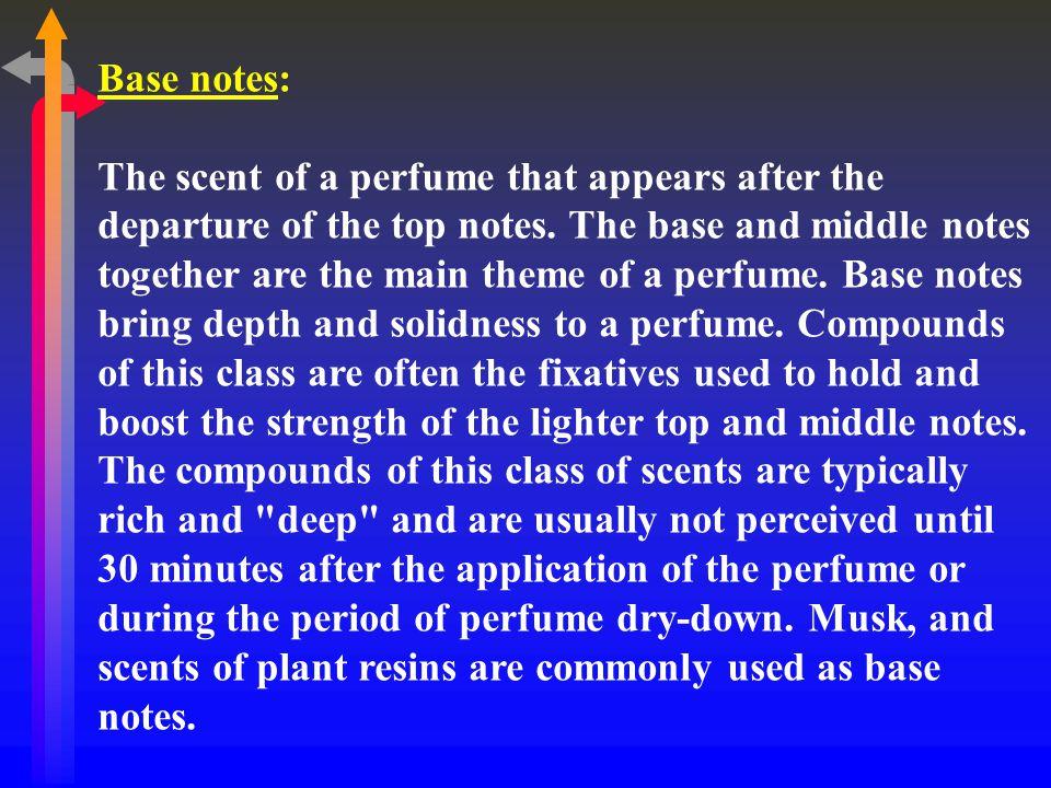 Base notes: