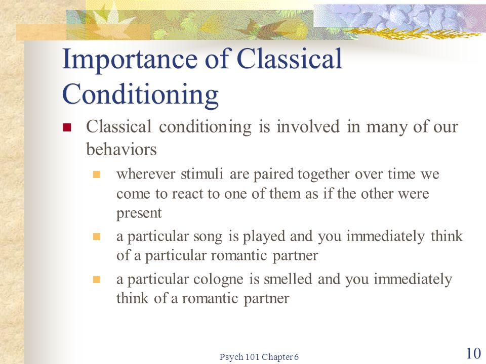 Importance of Classical Conditioning
