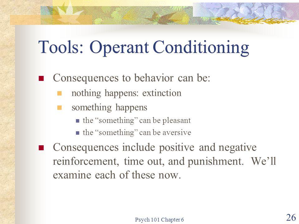 Tools: Operant Conditioning