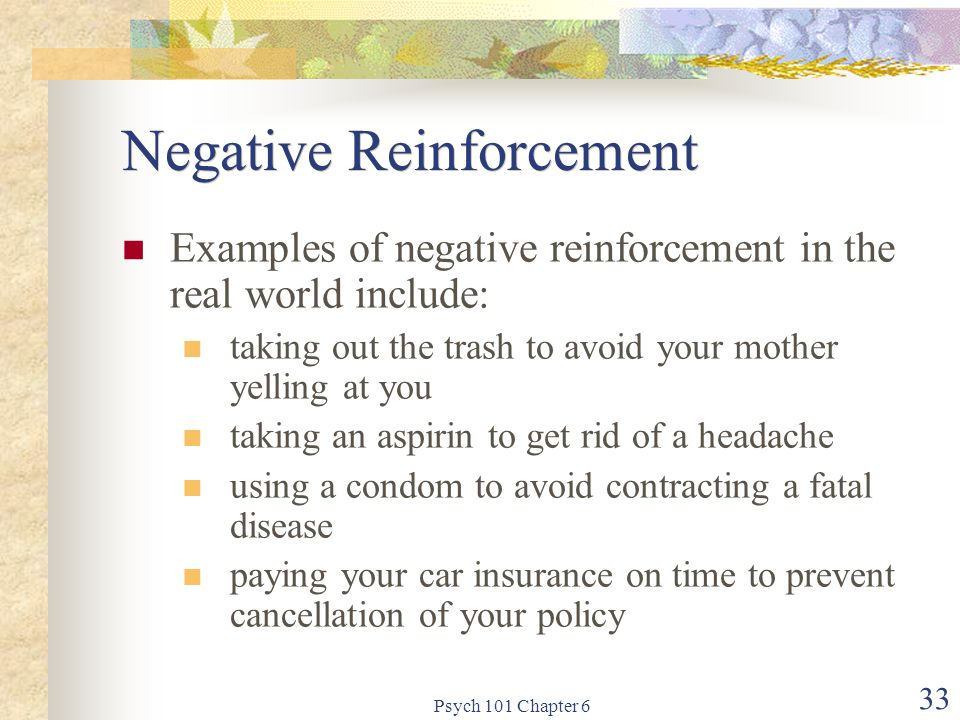 Negative Reinforcement
