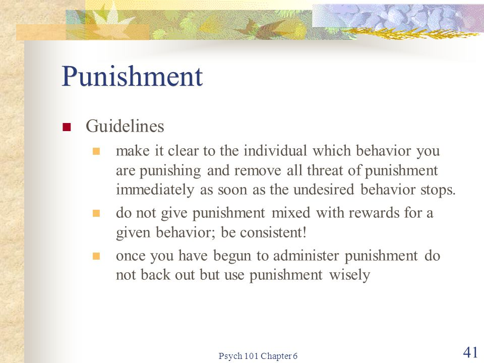 Punishment Guidelines