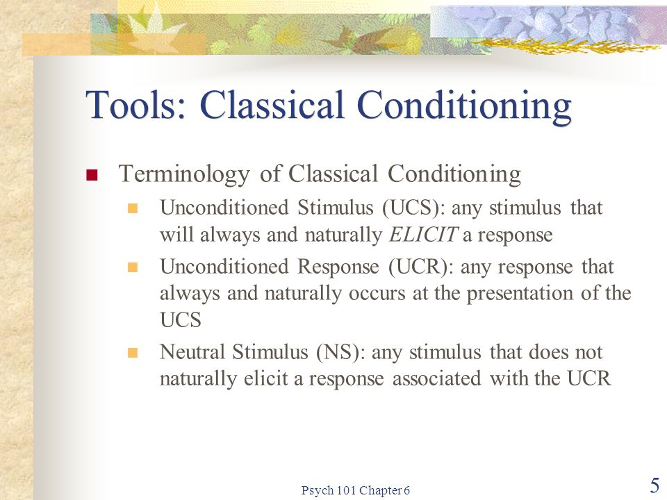 Tools: Classical Conditioning