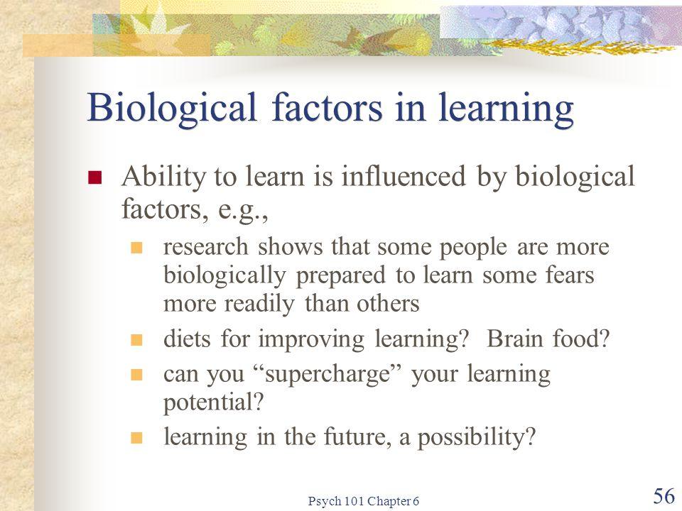 Biological factors in learning
