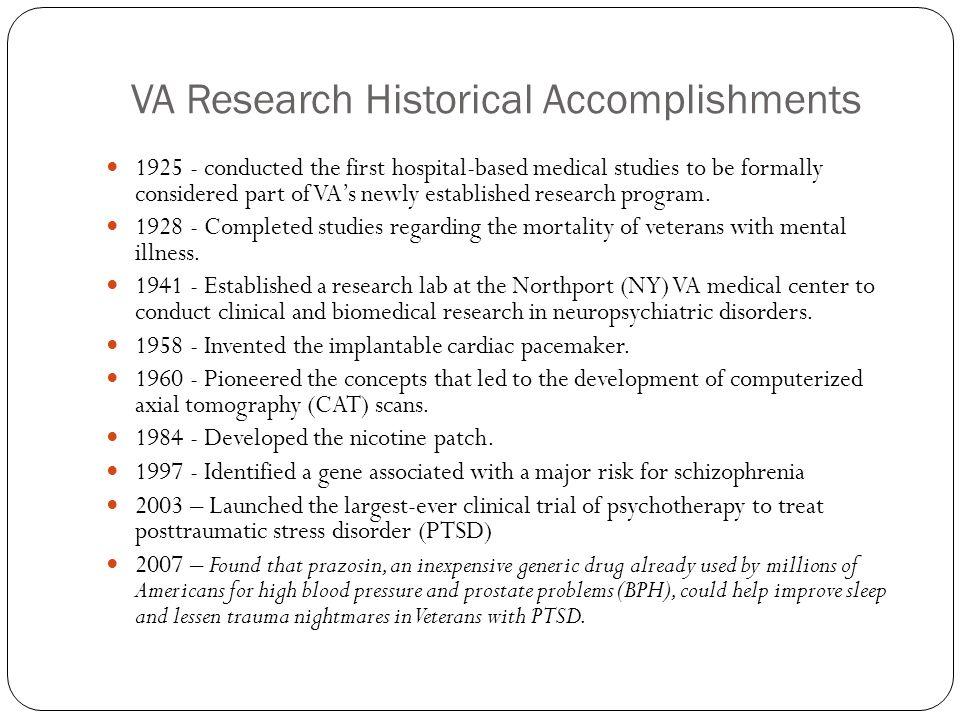 VA Research Historical Accomplishments