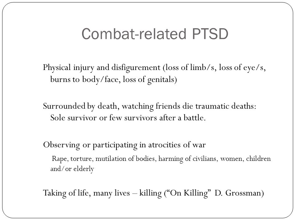 Combat-related PTSD