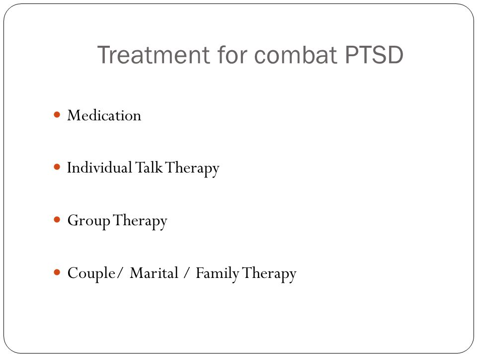 Treatment for combat PTSD