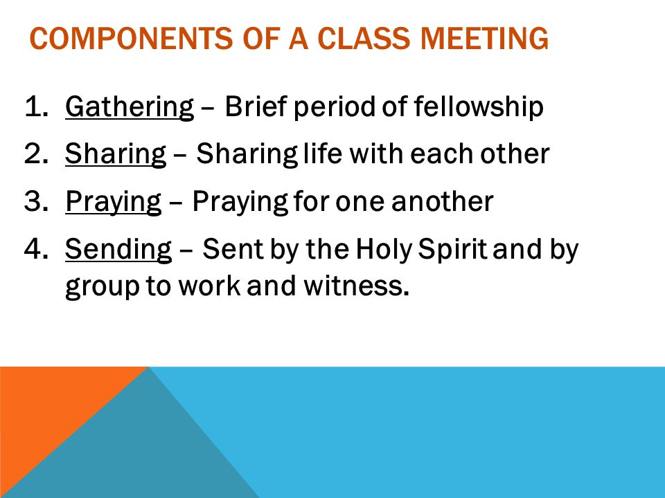Components of A Class Meeting