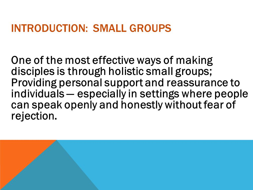 Introduction: small groups