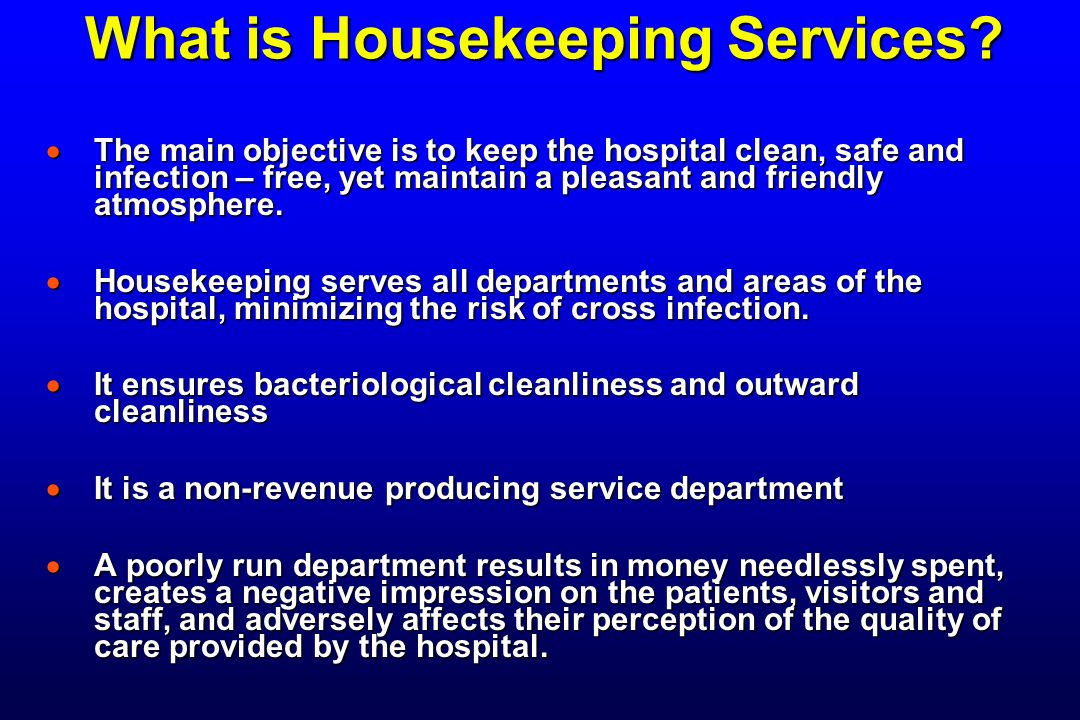 What is Housekeeping Services