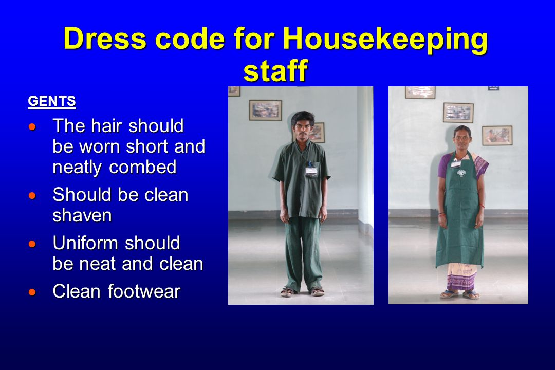 Dress code for Housekeeping staff
