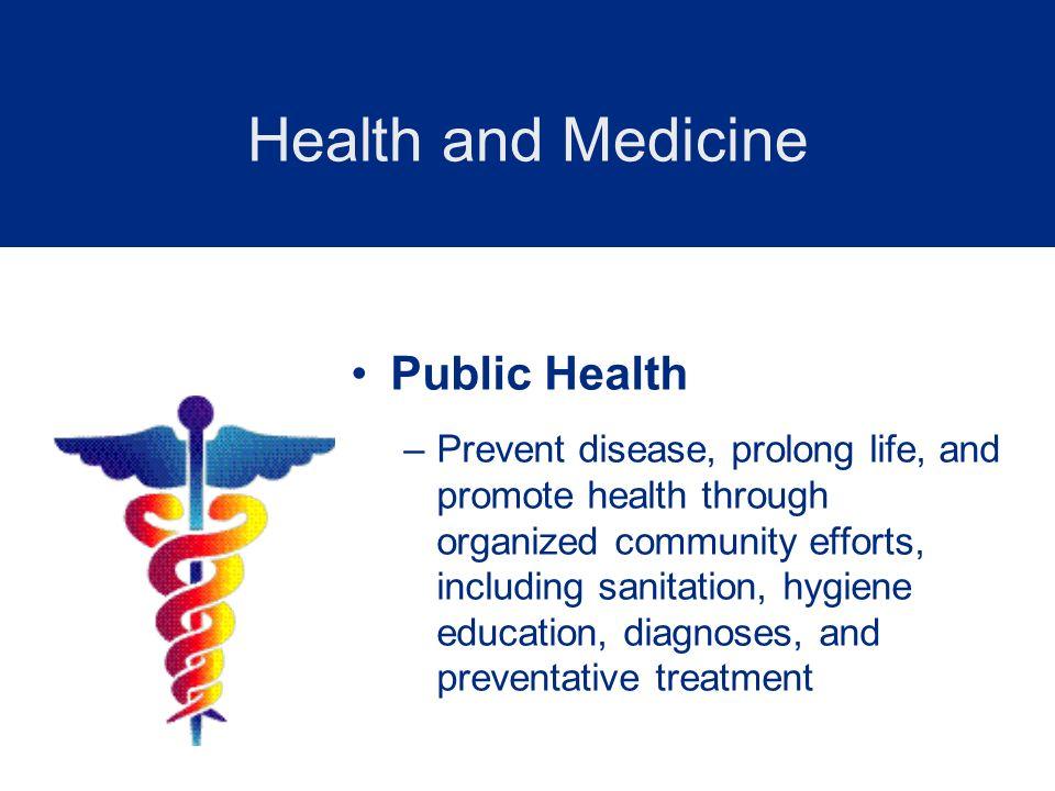 Health and Medicine Public Health
