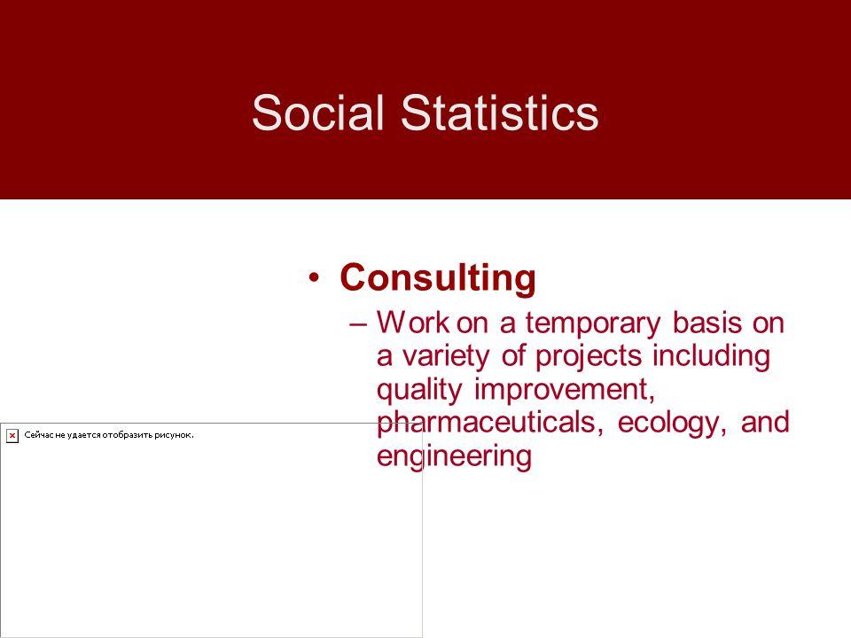 Social Statistics Consulting