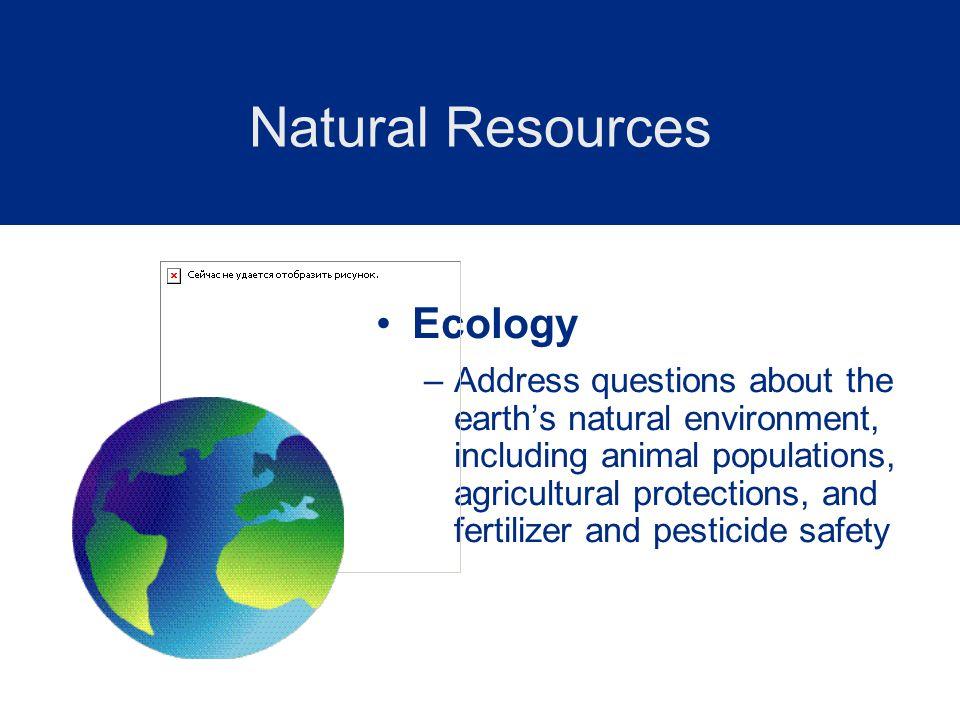 Natural Resources Ecology