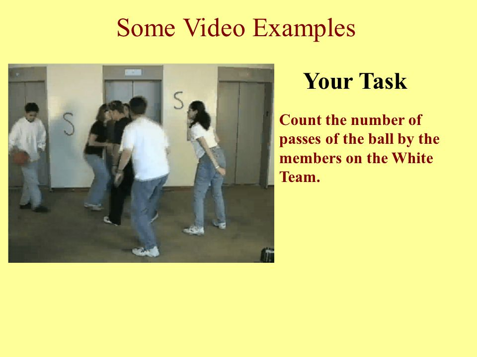 Some Video Examples Your Task