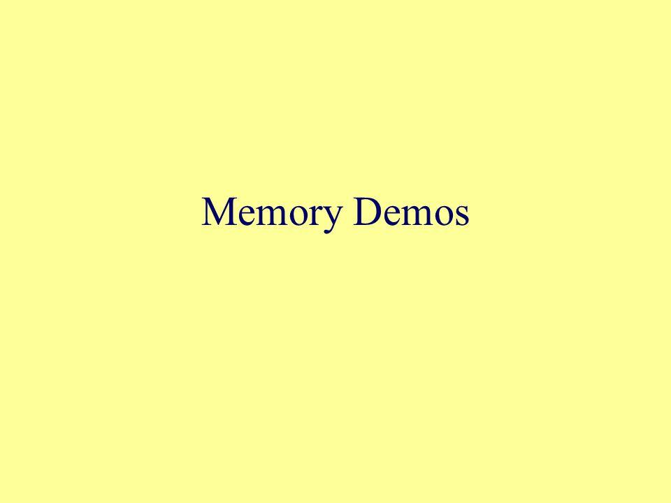 Memory Demos