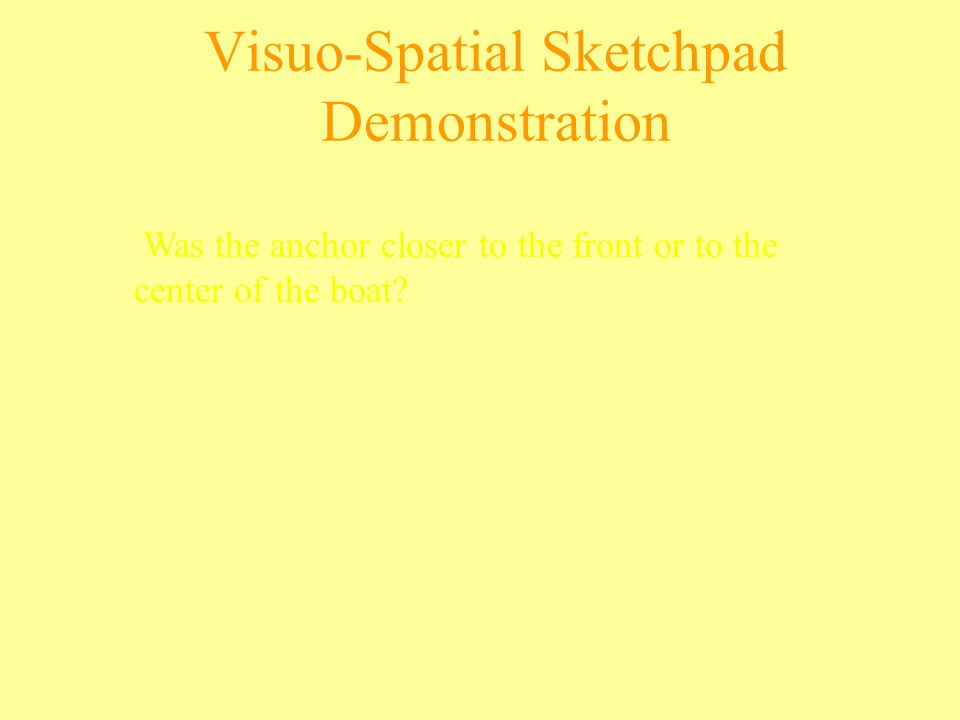 Visuo-Spatial Sketchpad Demonstration