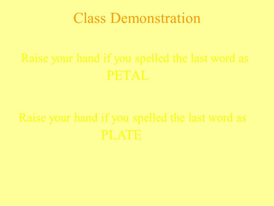 Class Demonstration PETAL PLATE