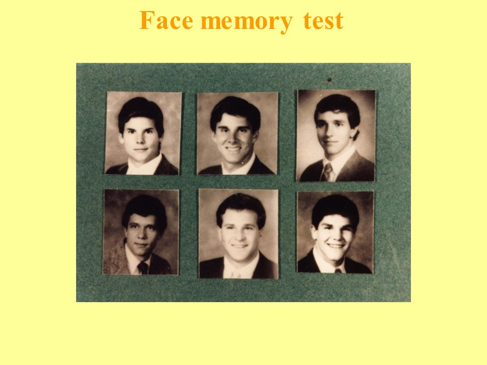 Face memory test