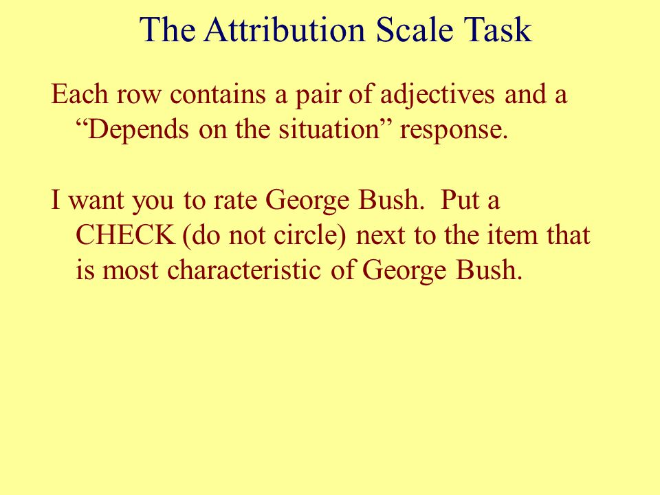 The Attribution Scale Task