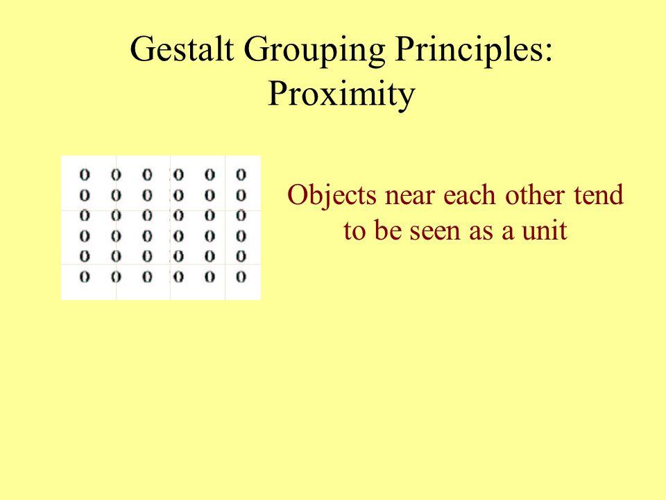 Gestalt Grouping Principles: Proximity