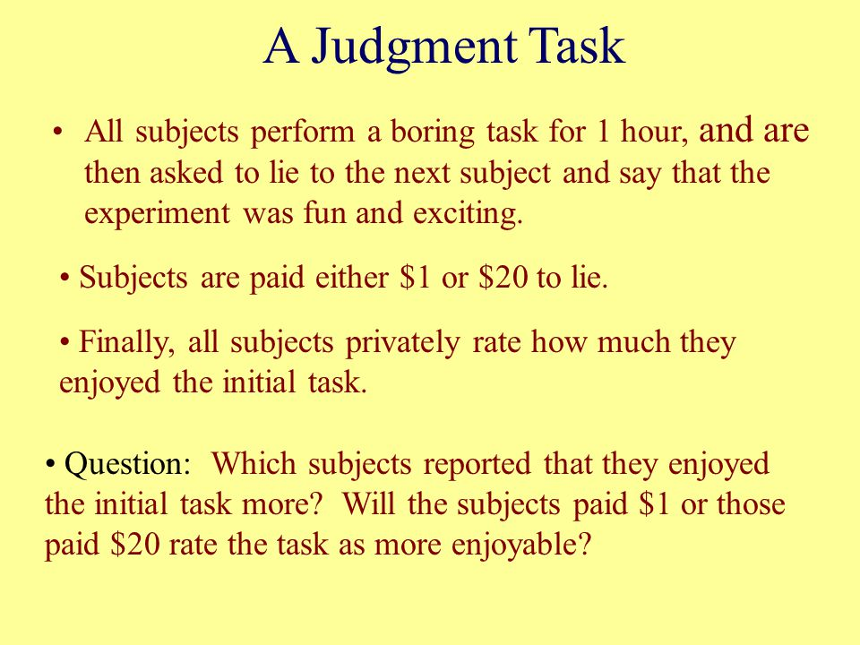 A Judgment Task