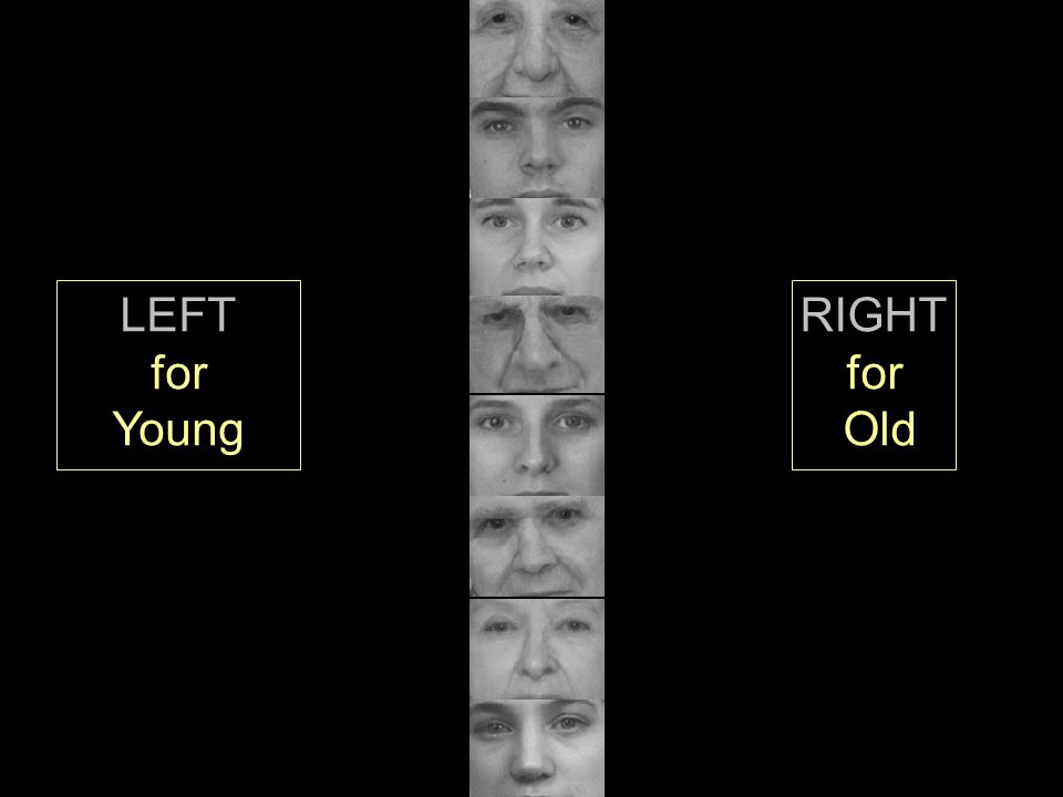 LEFT for Young RIGHT for Old