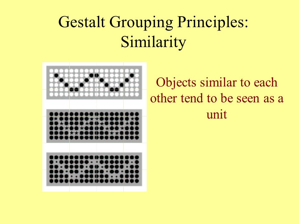 Gestalt Grouping Principles: Similarity