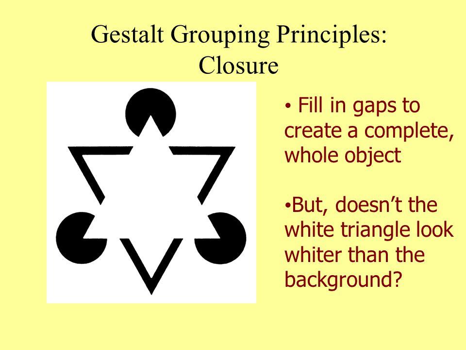 Gestalt Grouping Principles: Closure