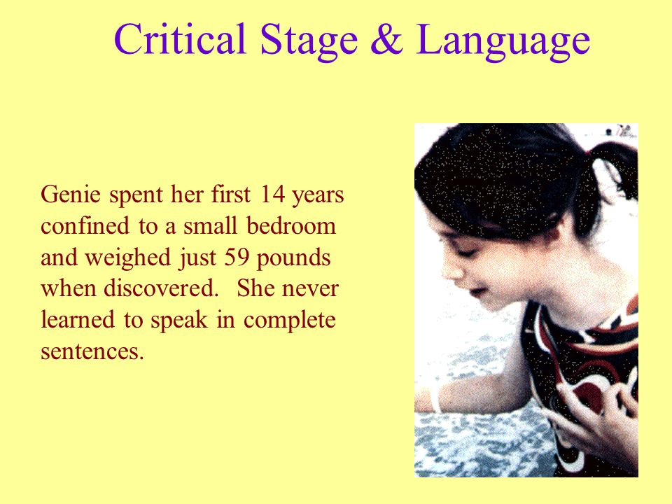 Critical Stage & Language
