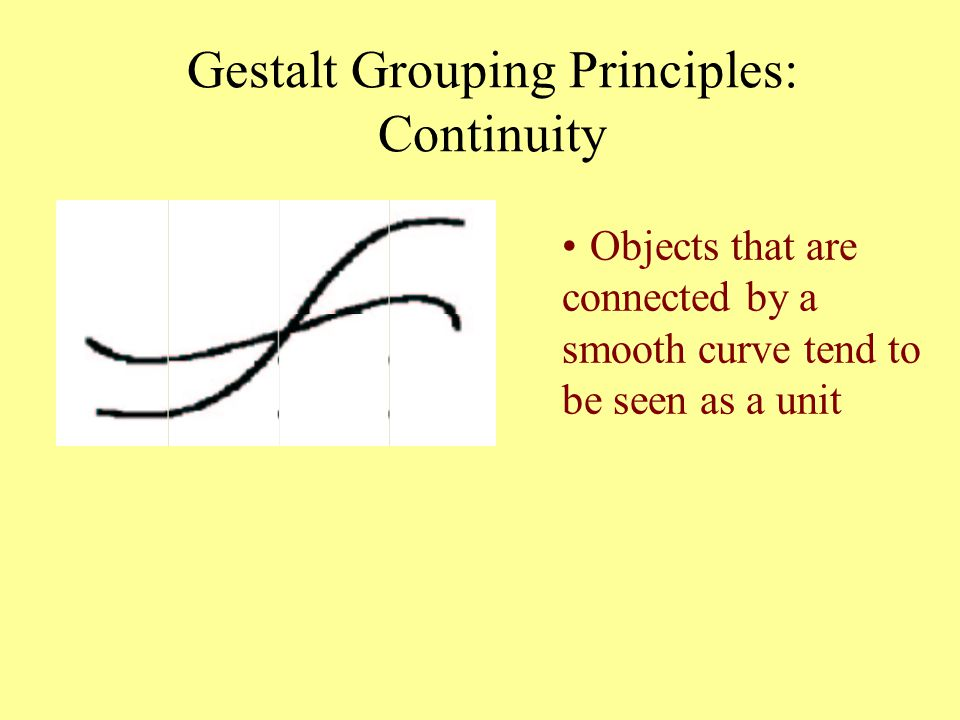 Gestalt Grouping Principles: Continuity