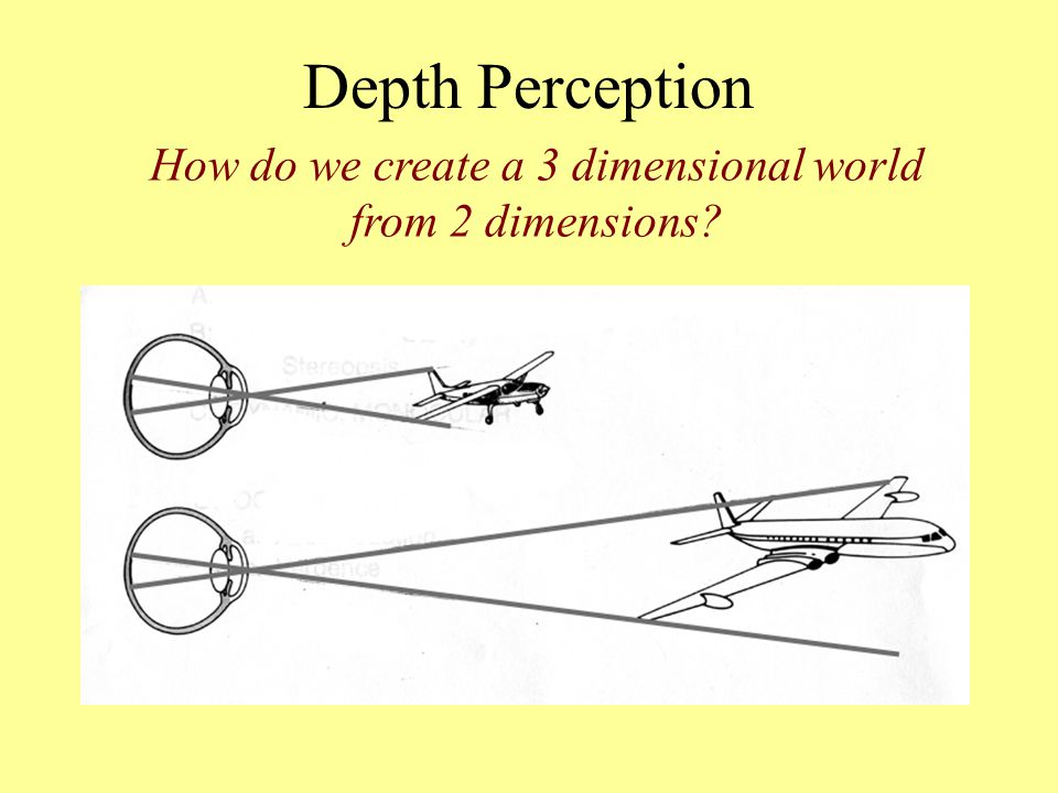 How do we create a 3 dimensional world from 2 dimensions