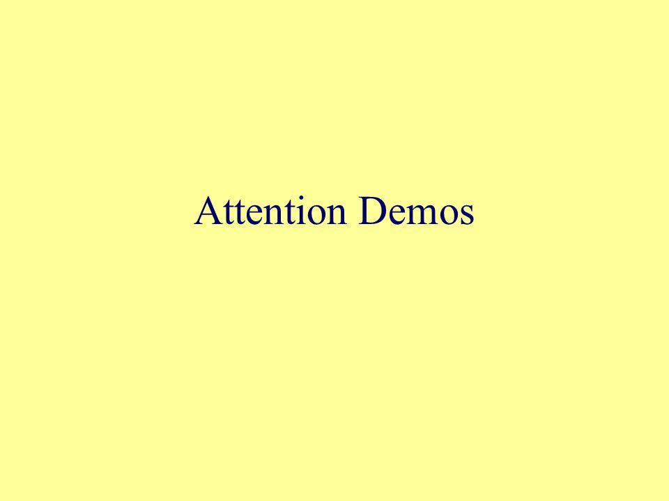 Attention Demos