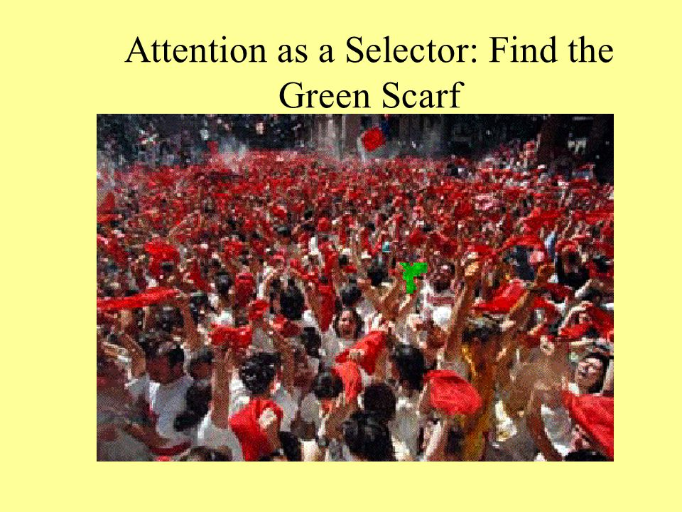 Attention as a Selector: Find the Green Scarf
