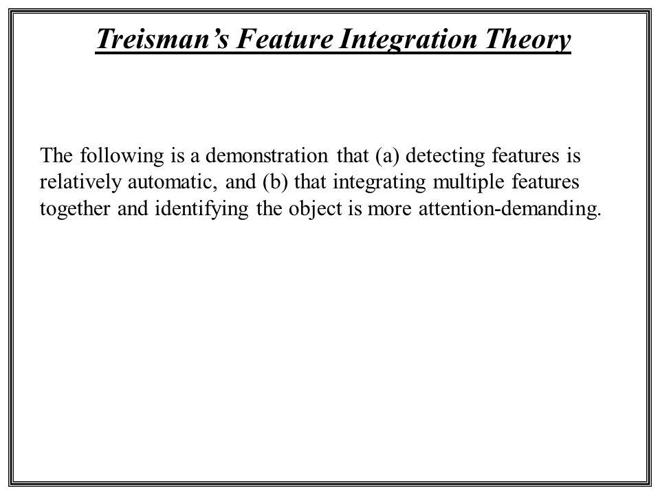 Treisman's Feature Integration Theory