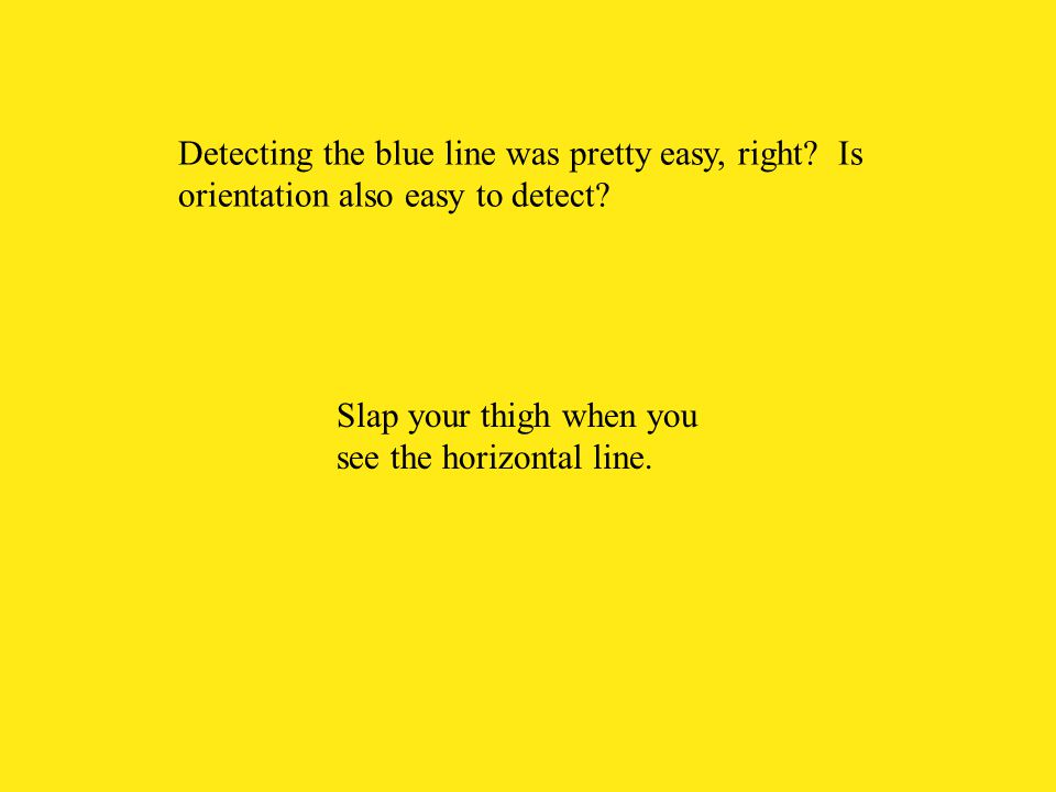 Detecting the blue line was pretty easy, right