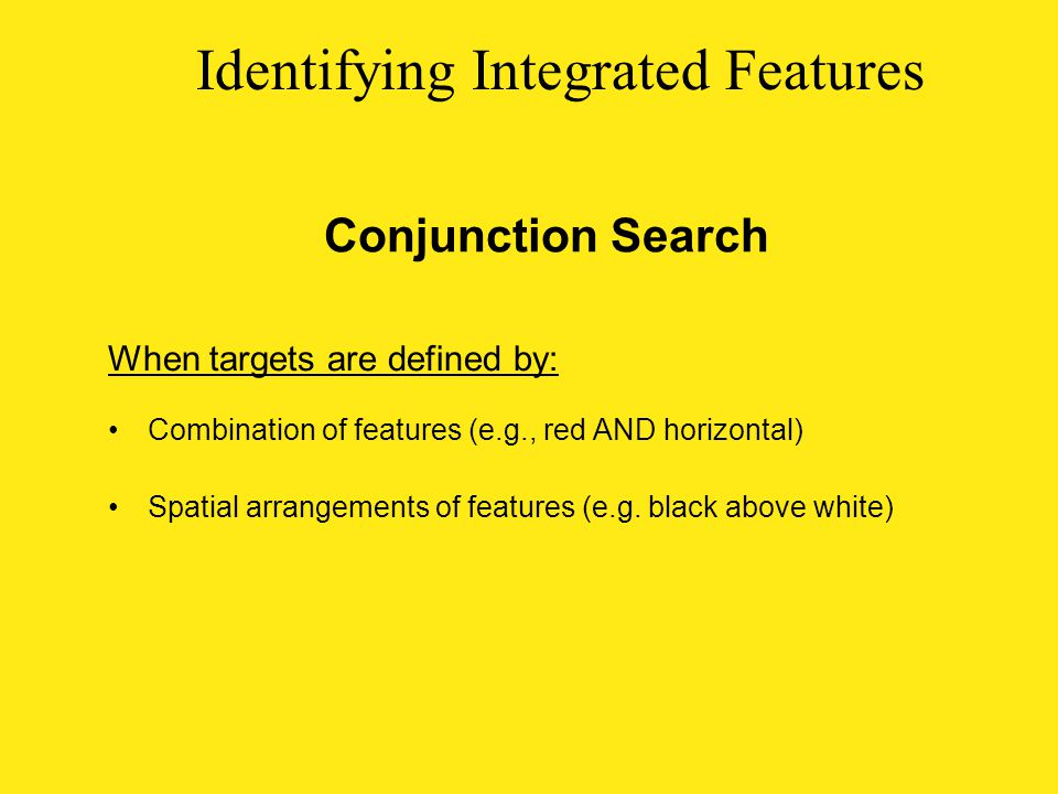 Identifying Integrated Features