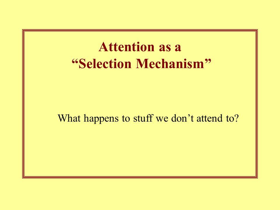 Selection Mechanism