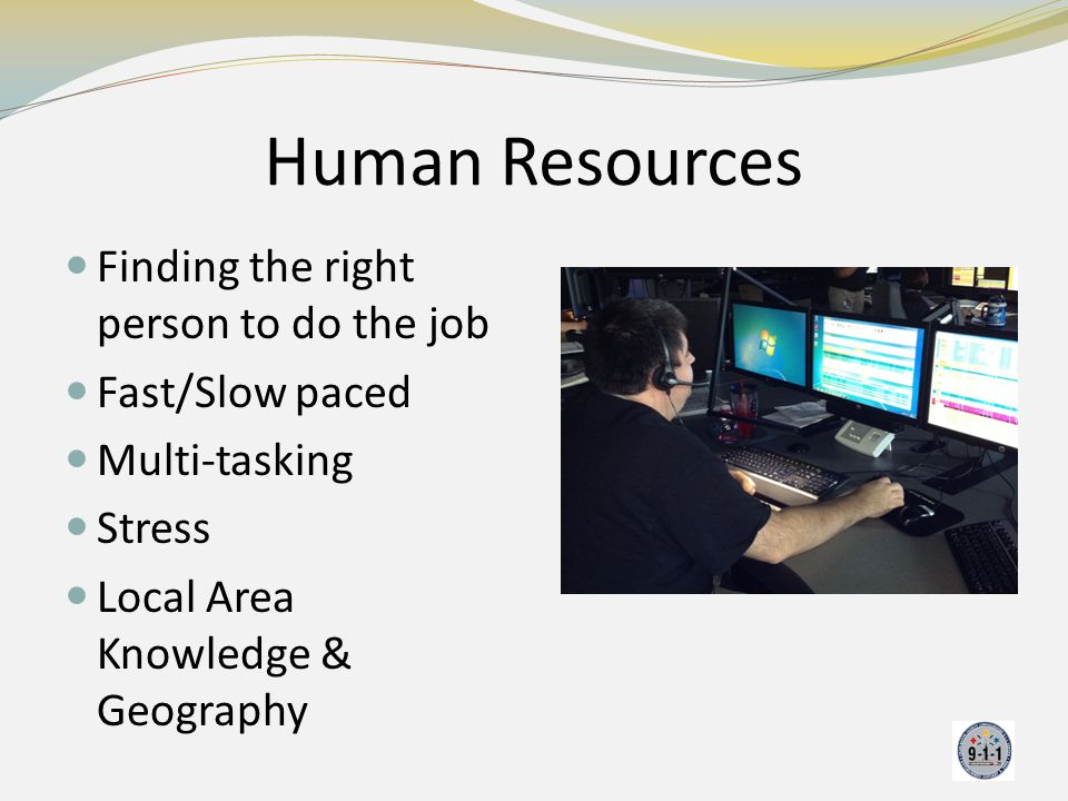 Human Resources Finding the right person to do the job Fast/Slow paced